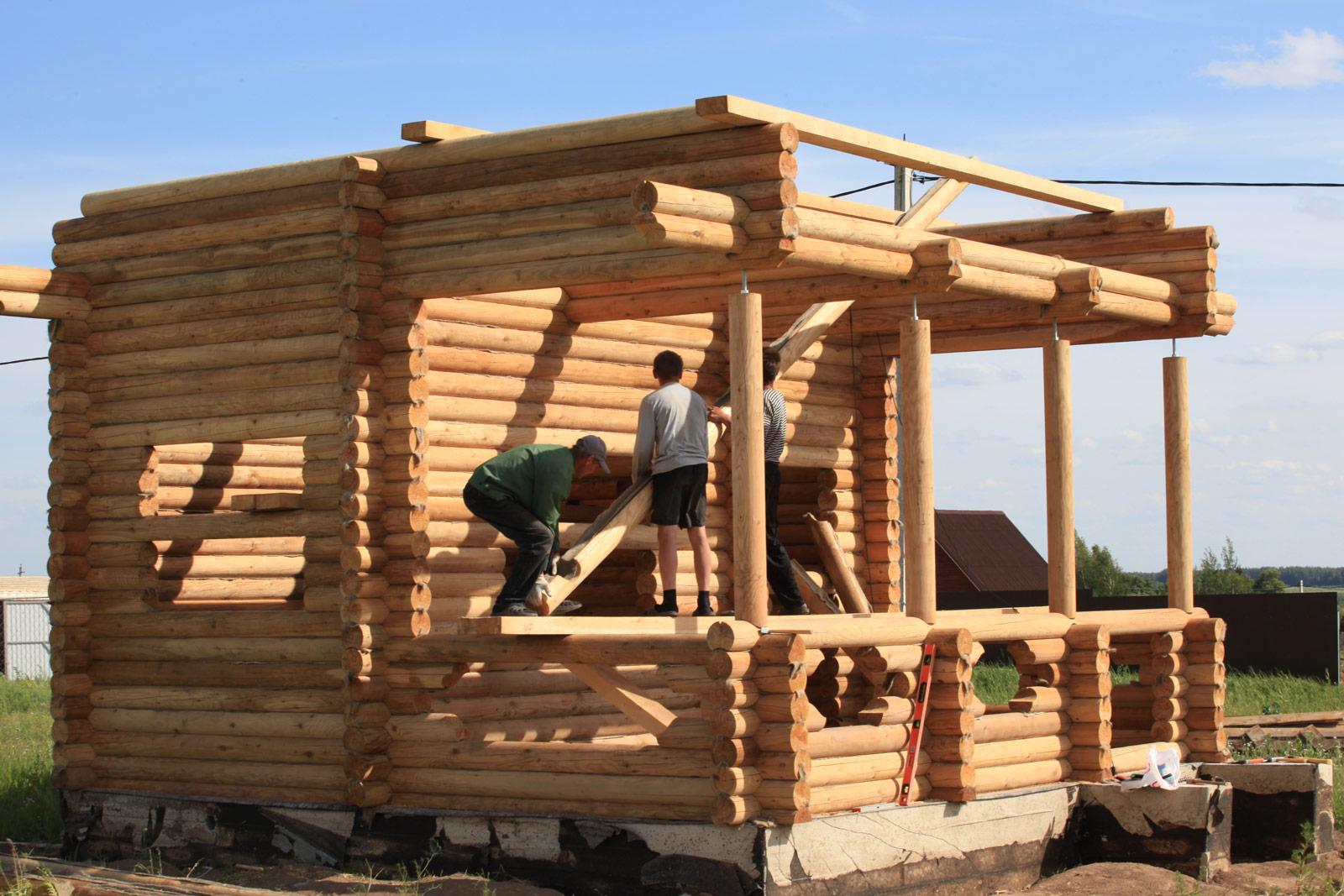 Строительство из кругляка своими руками