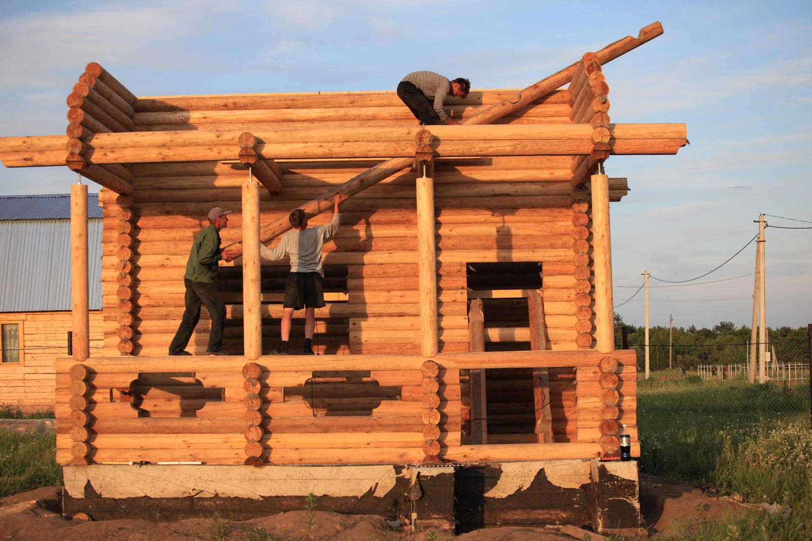 Бревенчатый дом своими руками Строительный портал 41