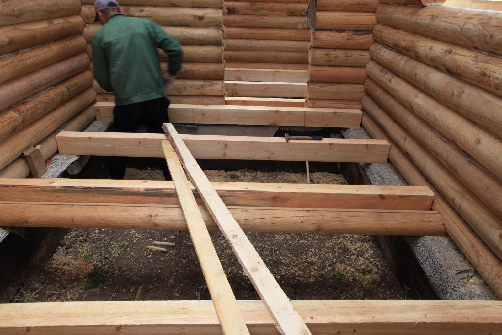 Полы в деревянном доме фото